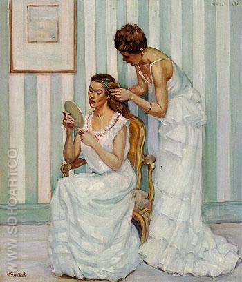 In the Dressing Room 1947 - Alson Skinner Clark reproduction oil painting