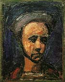 The Workman Apprentice Self Portrait c1925 - George Rouault reproduction oil painting
