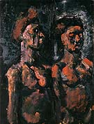 Prostitutes 1909 - George Rouault reproduction oil painting