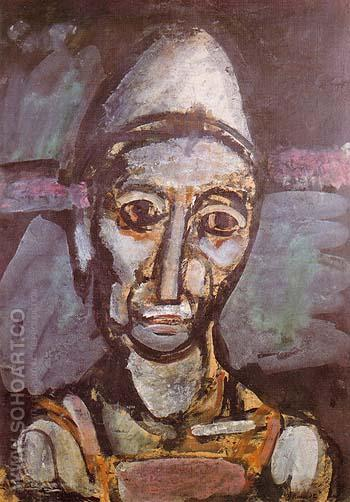 The Old Clown 1917 - George Rouault reproduction oil painting