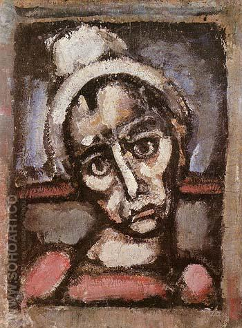 Don t We All Wear Makeup 1930 - George Rouault reproduction oil painting
