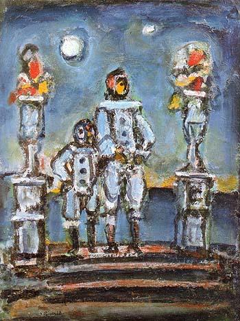 Blue Pierrots 1943 - George Rouault reproduction oil painting