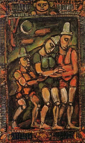 The Injured Clown I 1932 - George Rouault reproduction oil painting