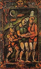 The Injured Clown I 1932 - George Rouault