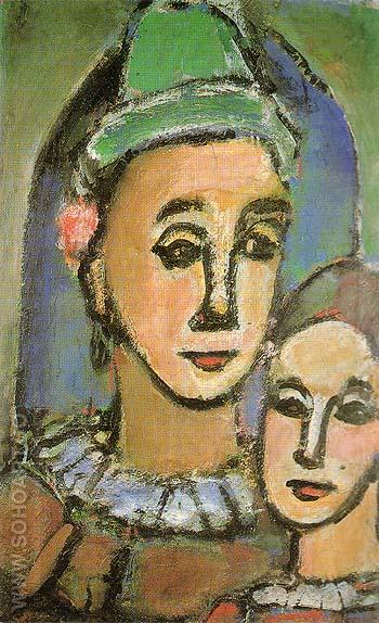 Duo The Two Brothers 1948 - George Rouault reproduction oil painting