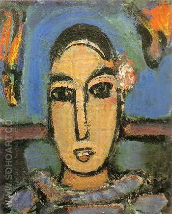 Pierrot 1937 - George Rouault reproduction oil painting
