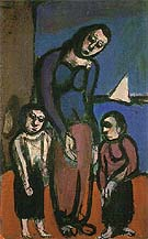 Hardships in the Suburbs A Mother and her Sons 1911 - George Rouault reproduction oil painting