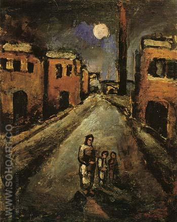 Christ in the Suburbs 1920 - George Rouault reproduction oil painting