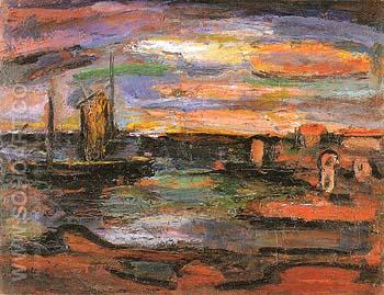 Twilight The Seashore 1939 - George Rouault reproduction oil painting