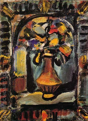 Decoratit Flowers 1939 - George Rouault reproduction oil painting
