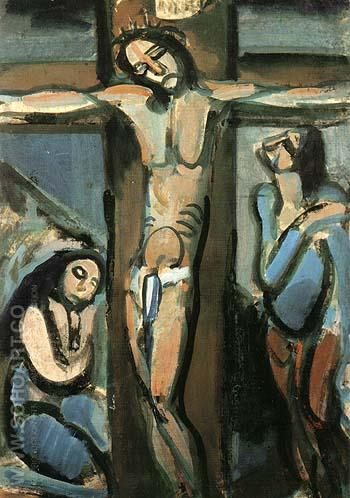 Crucifixion 1914 - George Rouault reproduction oil painting