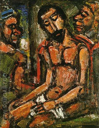 Christ Mocked by Soldiers 1932 - George Rouault reproduction oil painting