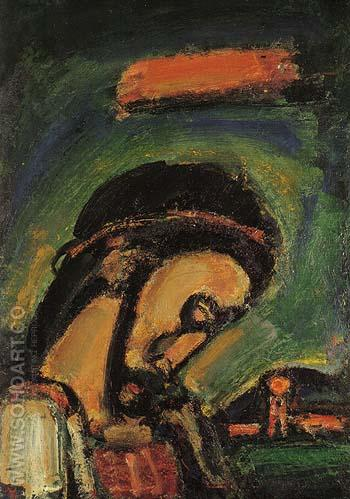 Head of Christ 1937 - George Rouault reproduction oil painting