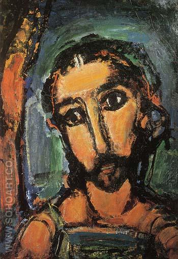 Head of Christ Passion 1937 - George Rouault reproduction oil painting