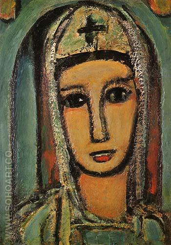 Veronica 1945 - George Rouault reproduction oil painting