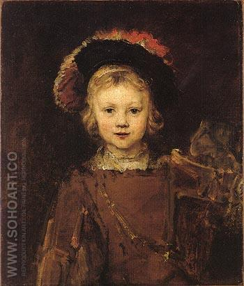 Portrait of a Boy 1655 - Rembrandt Van Rijn reproduction oil painting