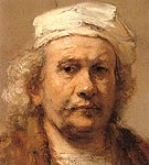 Self Portrait c1665 - Rembrandt Van Rijn reproduction oil painting