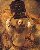 Moses Breaking the Tablets of the law 1659 - Rembrandt Van Rijn
