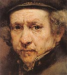 Detail Self Portrait 1659 - Rembrandt Van Rijn