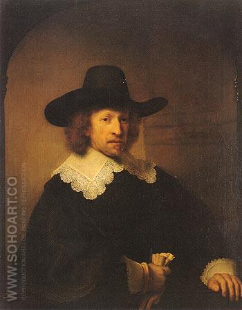 Portrait of Nicolaas van Bambeek 1641 - Rembrandt Van Rijn reproduction oil painting