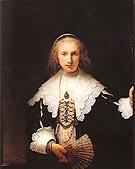 Portrait of Agatha bas 1641 - Rembrandt Van Rijn