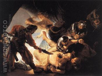The Blinding of Samson 1636 - Rembrandt Van Rijn reproduction oil painting