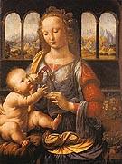 Madonna and Child - Leonardo da Vinci reproduction oil painting