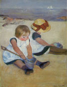 Children on the Beach 1884 - Mary Cassatt reproduction oil painting