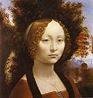 Portrait of Ginevra de Benci 1478 1480 - Leonardo da Vinci reproduction oil painting
