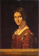 Portrait of an Unknown Woman La Belle Ferroniere - Leonardo da Vinci