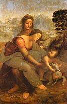 Virgin and Child with st Anne 1502 - Leonardo da Vinci