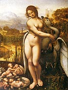 Leda and the Swan - Leonardo da Vinci reproduction oil painting