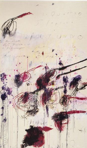 Four Seasons Autumn - Cy Twombly reproduction oil painting