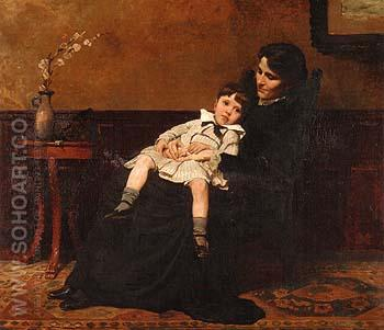 The Last Days of Infancy 1885 - Cecilia Beaux reproduction oil painting