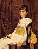 A Little Girl Fanny Travis Cochran 1887 - Cecilia Beaux reproduction oil painting