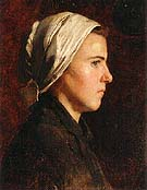 Head of a French Peasant Woman 1888 - Cecilia Beaux reproduction oil painting