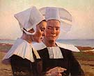 Twilight Confidences 1888 - Cecilia Beaux reproduction oil painting