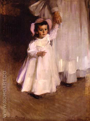 Ernesta Child with Nurse 1894 - Cecilia Beaux reproduction oil painting