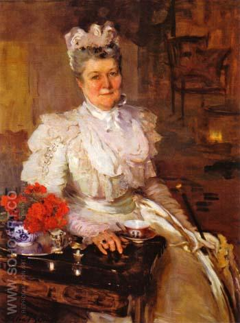 Mrs Thomas A Scott Anna Riddle 1897 - Cecilia Beaux reproduction oil painting