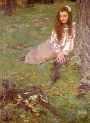 Dorothea in the Woods 1897 - Cecilia Beaux reproduction oil painting