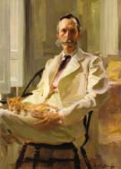 Man with the Cat Henry Sturgis Drinker 1898 - Cecilia Beaux reproduction oil painting