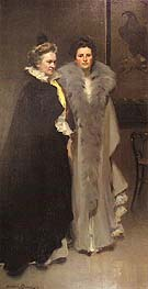 Mother and Daughter 1898 - Cecilia Beaux reproduction oil painting