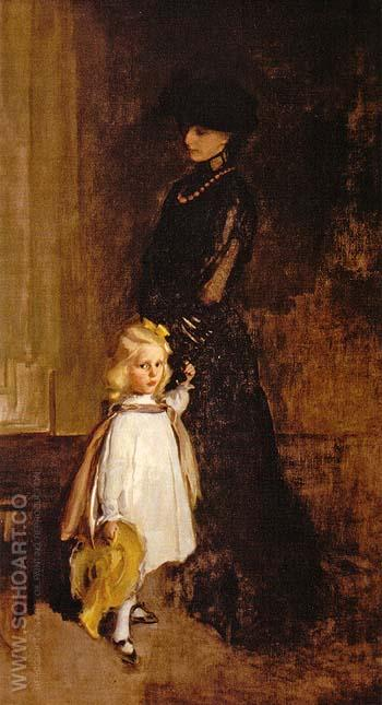 Mrs Alexander Sedgwick and Daughter Christina 1902 - Cecilia Beaux reproduction oil painting