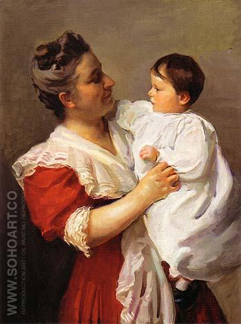 Mrs Stedman Buttrick and Son John 1909 - Cecilia Beaux reproduction oil painting