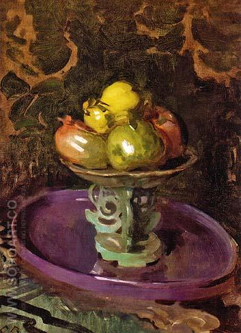Still Life with Fruit ca 1918 - Cecilia Beaux reproduction oil painting