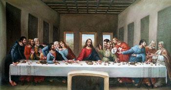 The Last Supper - Leonardo da Vinci reproduction oil painting