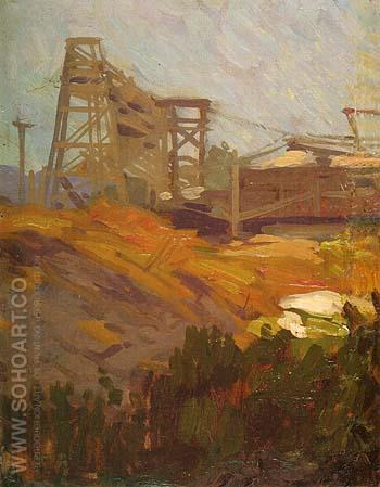 Oil Well 1981 - Sam Hyde Harris reproduction oil painting