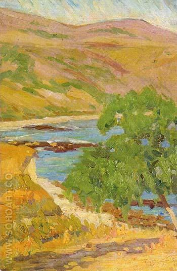 Along The Beach 1920 - Sam Hyde Harris reproduction oil painting
