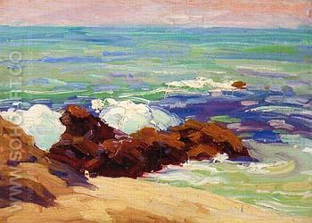 Rugged Coast 1920 - Sam Hyde Harris reproduction oil painting