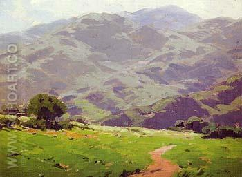 Foothills of San Gabriel Valley - Sam Hyde Harris reproduction oil painting